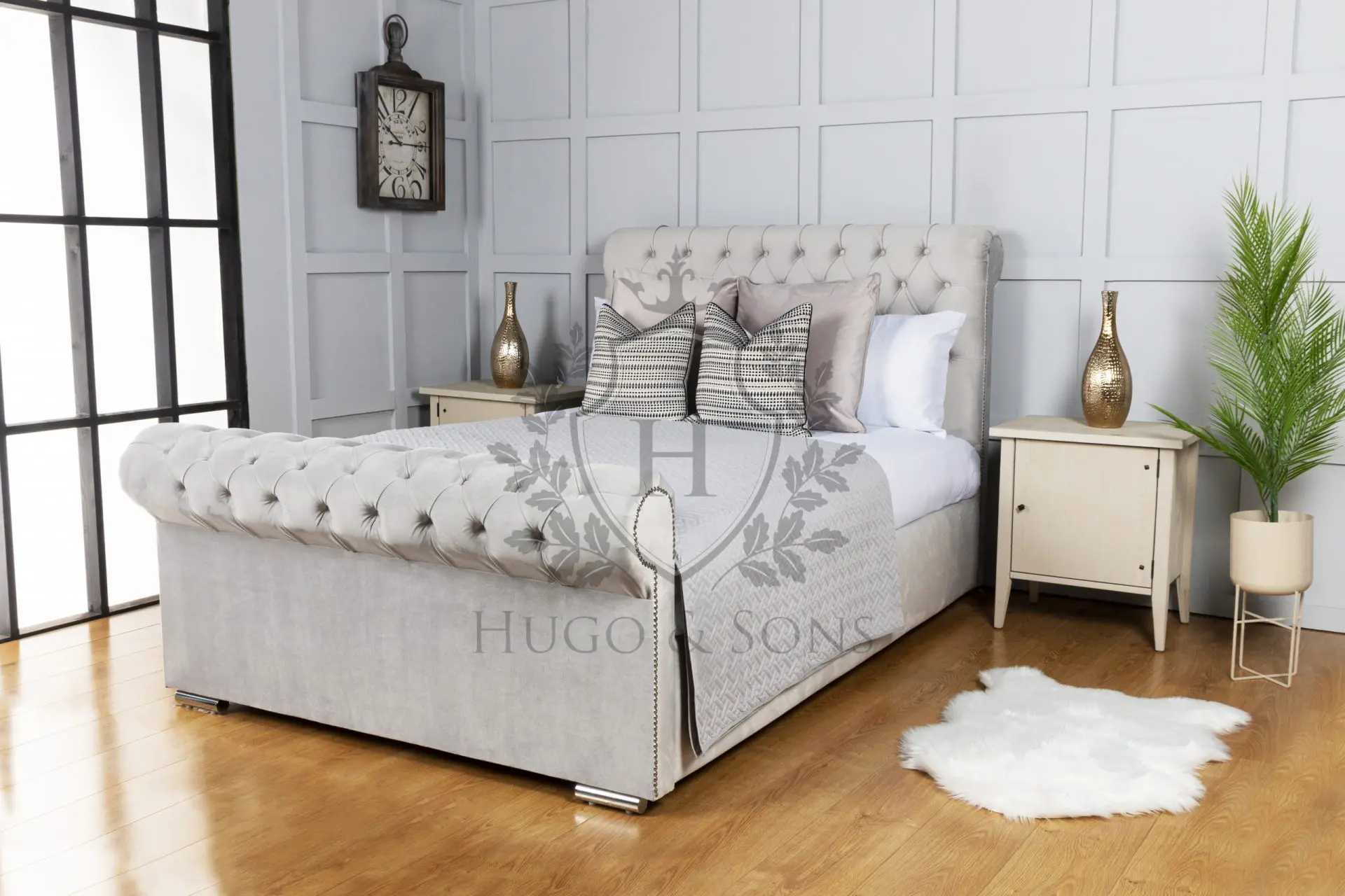Hugo & Sons image of the Chesterfield Sleigh Bed